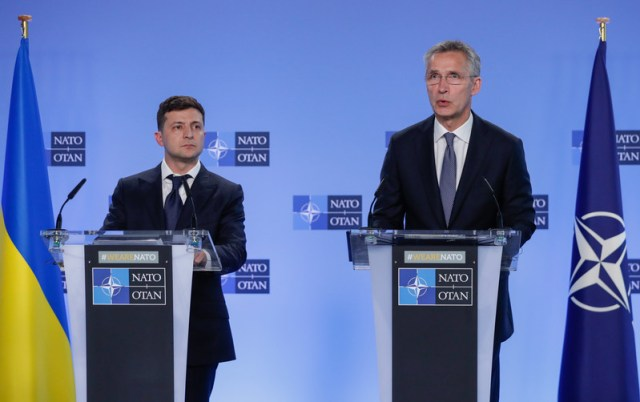 Ukrainian President Volodymyr Zelensky in Brussels
