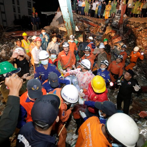 Cambodian court charges builders and site manager after deadly collapse of building over the weekend