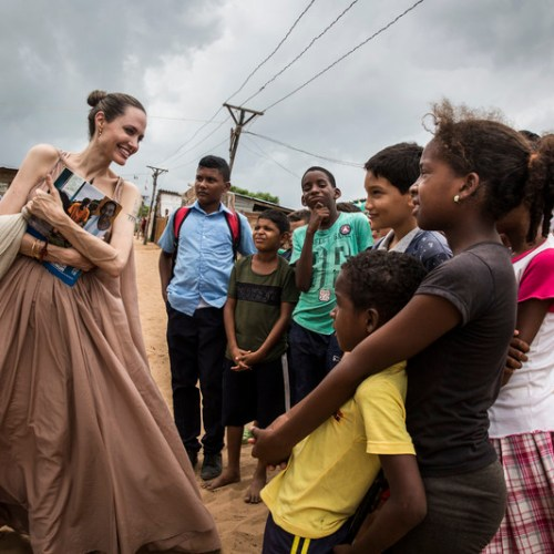 Photo Story: Angelina Jolie in Colombia
