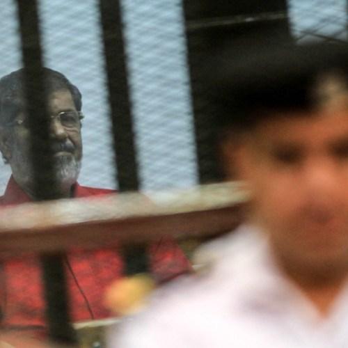 Egypt's former president, Mohammed Morsi, dies in court, state TV says