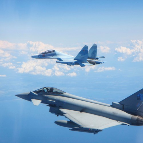 Photo Story: RAF Typhoons scramble to intercept Russian fighters