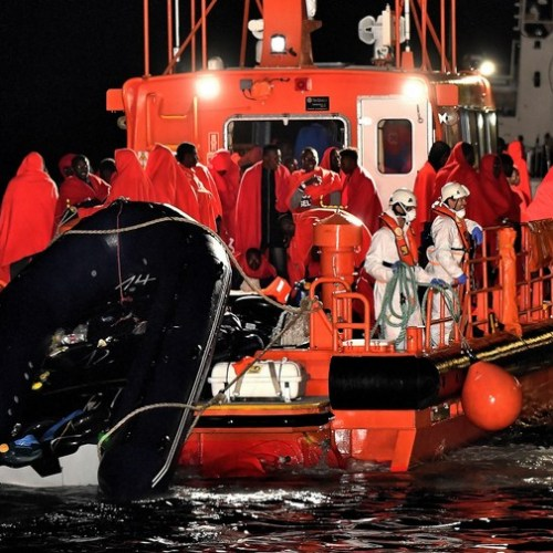 Photo Story: 63 persons saved off Almeria in Spain