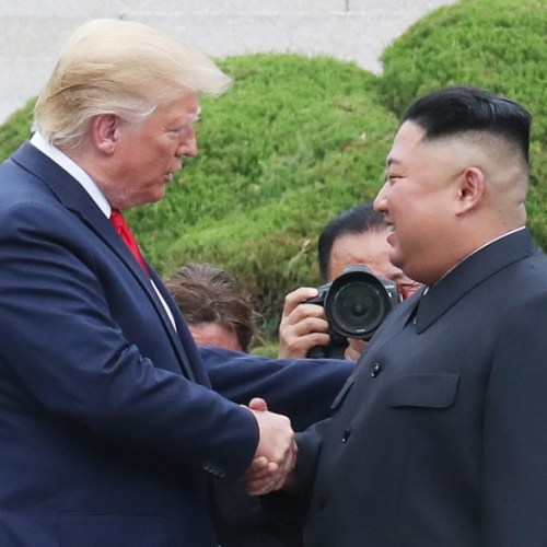 UPDATED: Historic meeting between Trump and Kim at the DMZ