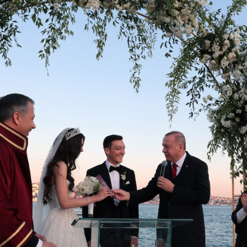 Photo story: Turkish President Erdogan is best man at footballer Mesut Ozil's wedding