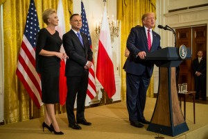 Polish President Andrzej Duda in the White House
