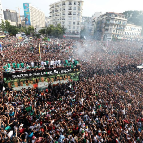Algeria celebrates their second Cup of Nations win