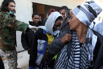 Shooting in Libya detention centre after migrant raids