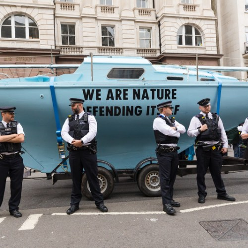 Photo Story: Environmental protest outside the Royal Courts of Justice in London