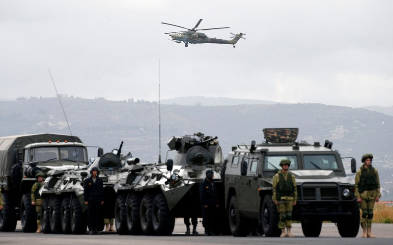 Around 500 Russian troops in drills near Afghanistan