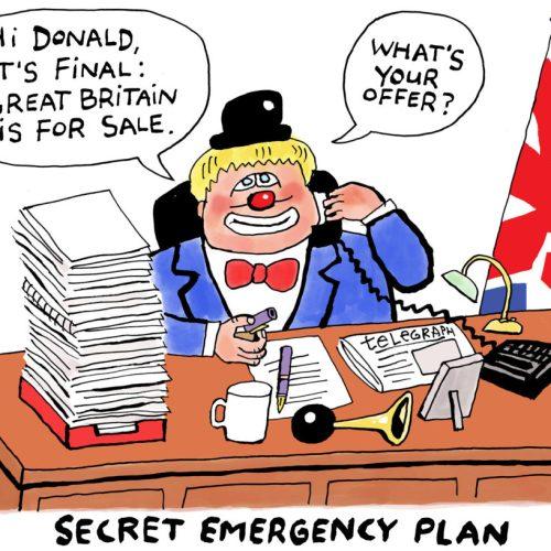Johnson responds to Trump's 'LANDs' purchase spree (Cartoons)