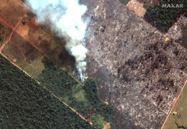 Fires continue to burn in the Amazon Rainforest in Brazil