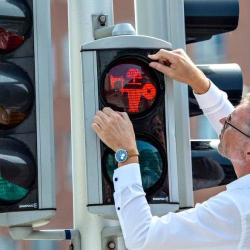 Photo Story: Traffic lights in Denmark to symbolize Viking history