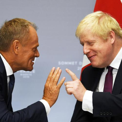 Johnson warns Trump to compromise to get UK trade deal, clash with Tusk over Brexit blame