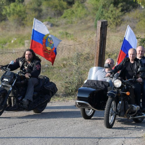 Photo story: Putin joins the Night Wolves