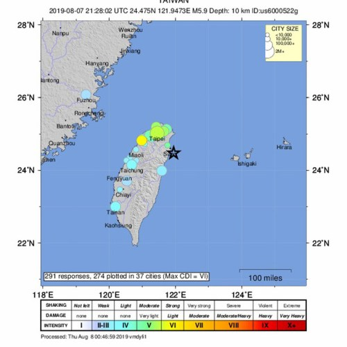 Powerful earthquake rattles Taiwan