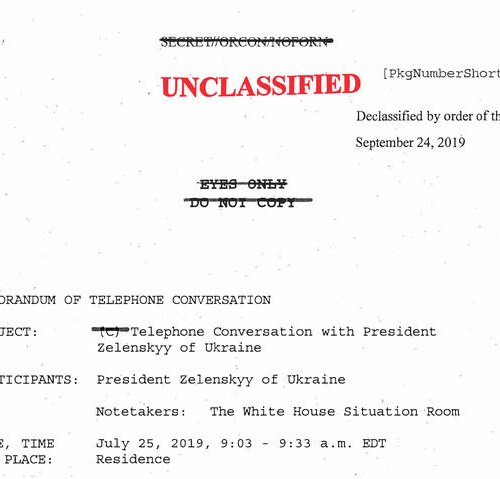 Memo confirms Trump urged Biden inquiry