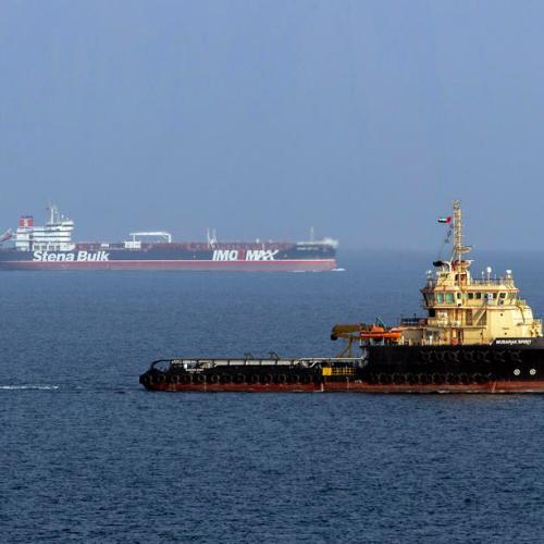 British-flagged 'Stena Impero' en route to Dubai
