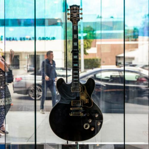 Photo Story: Blues legend BB King's guitars and objects on display in Beverly Hills