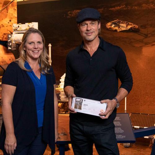 Photo Story: US actor Brad Pitt visits NASA's JPL