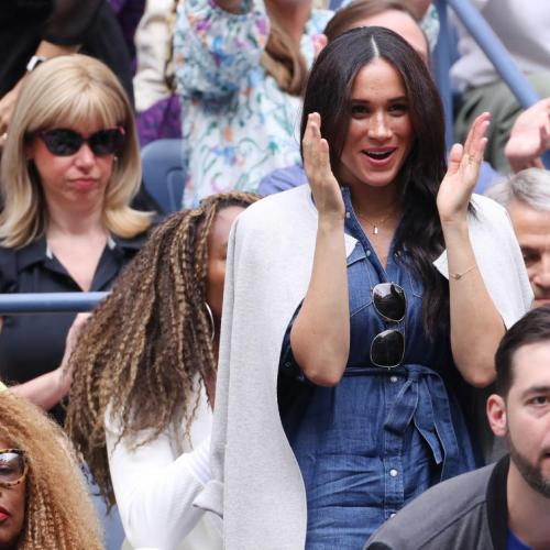 Meghan spotted in the crowds at US Open final