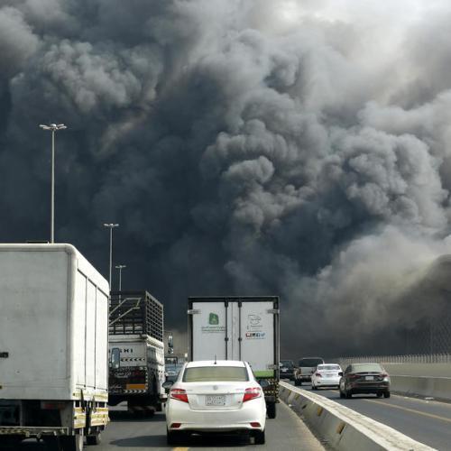 Fire engulfs main train station in Jeddah