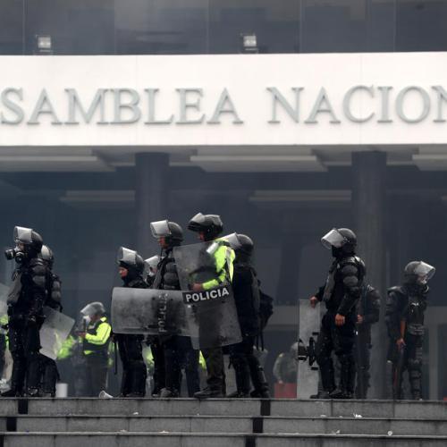 Ecuador president Moreno flees the capital amid growing unrest