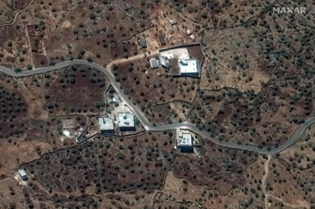 Reported residence of the former ISIS leader, Abu Bakr al-Baghdadi in northwestern Syria near the village of Barisha