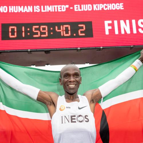 Photo Story: Eliud Kipchoge breaks two-hour marathon mark by 20 seconds