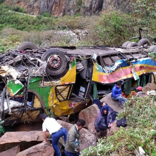 Photo Story: Seventeen people killed in bus accident in Peru