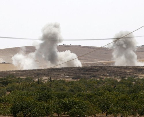 Heavy fighting on second day of Turkish assault in Syria