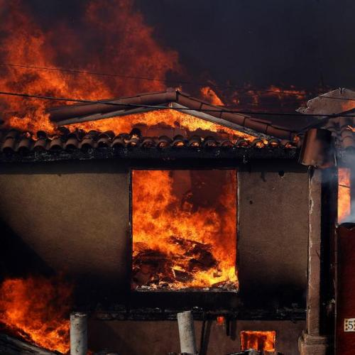 Millions warned of possible power cut as California wildfires rage on