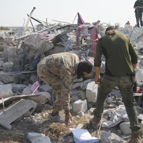 Photos from the site of the U.S. military strike that killed ISIS leader