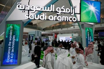 Saudi oil giant Aramco sees profits soar by almost 300%