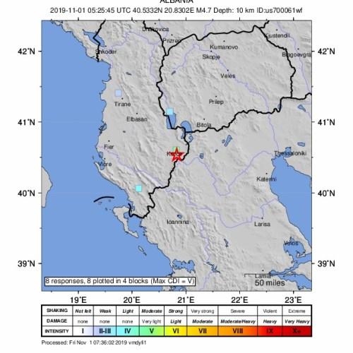 Strong earthquake rattles Albania