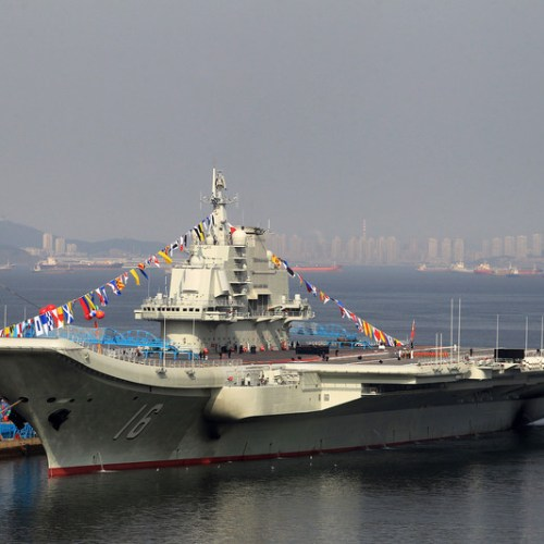 China's first aircraft carrier sails through Taiwan Strait in what is considered as 'intimidatory' move