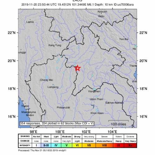 Magnitude 6.1 quake rattles Thailand and Laos