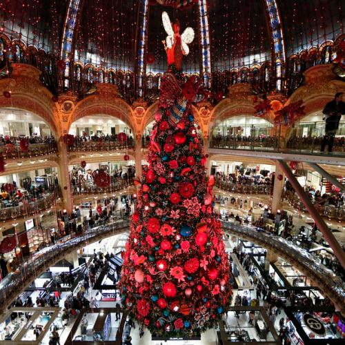 Photo Story: Galeries Lafayette Christmas decoration unveiled in Paris