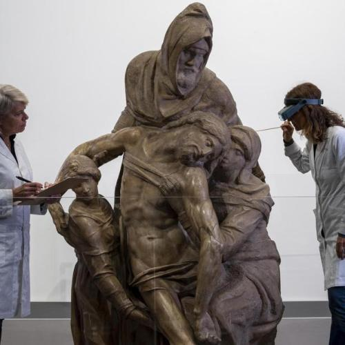 Restoration starts today on The Deposition (The Florentine Pieta) by Michelangelo in Florence