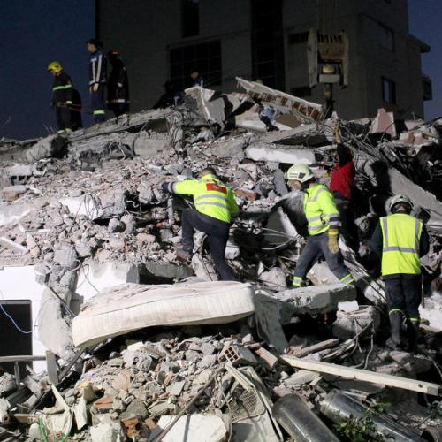 Rescuers search into the night after deadly Albanian earthquake, at least 20 dead