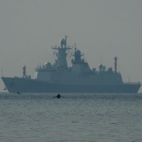U.S. warships sail in disputed South China Sea, angering China