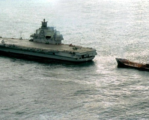 Reports of fire on Russia's only aircraft carrier
