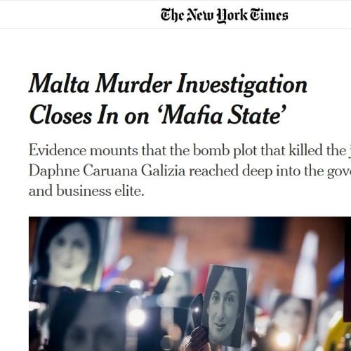 New York Times describes Malta as 'Mafia State'