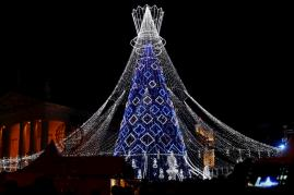 Christmas tree lighting ceremony in Vilnius
