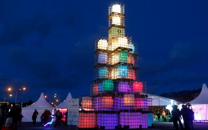 Photo Story: Christmas tree with a difference unveiled in Viimsi, Estonia