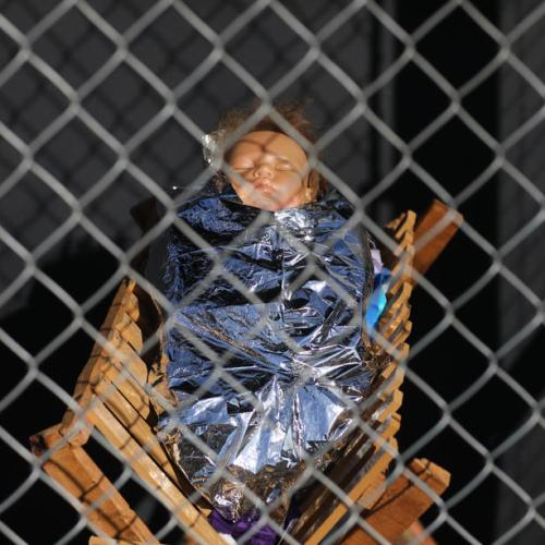 Caged Nativity scene poses question 'What if the Family sought refuge in our country today'?