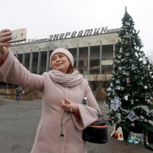 Former Chernobyl residents visit their hometown for Christmas