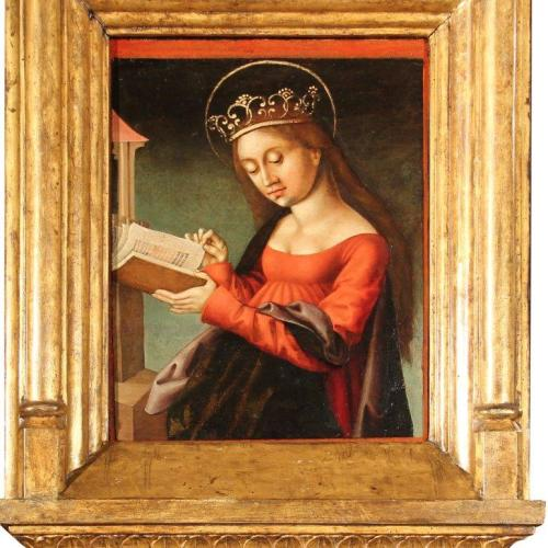 Island Insurance Sponsors Restoration of 16 th Century Painting of St Catherine at Palazzo Falson