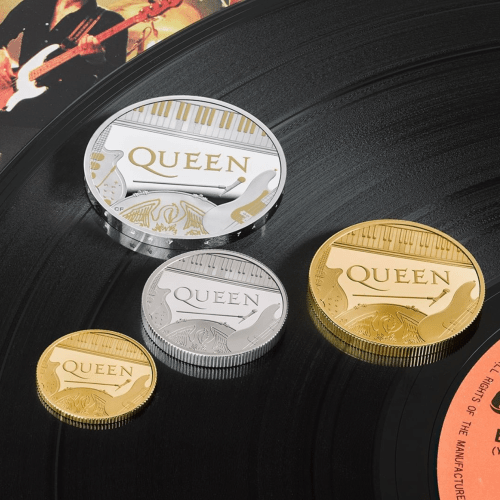Queen becomes first British band to join Queen Elizabeth on commemorative coin