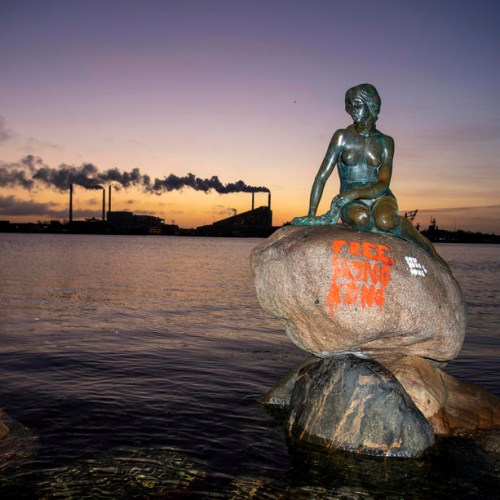 Photo Story: The Little Mermaid statue in Copenhagen vandalized