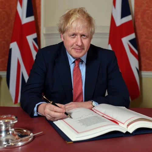 Johnson signs Brexit-deal law